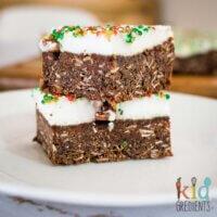 Chocolate marshmallow Christmas slice conventional method