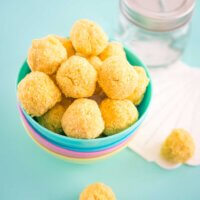 Nut free passionfruit bliss balls