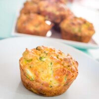 Ham and veggie muffins