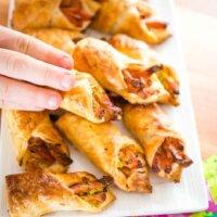 ham and zucchini pastry rolls