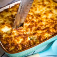 Lamb and veggie Greek style lasagne