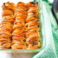 sweet potato bake with maple and bacon