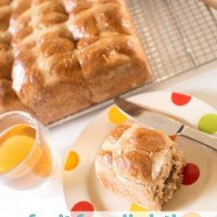 lightly lemony fruit free hot cross buns