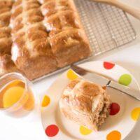 Lightly lemony fruit free hot cross buns