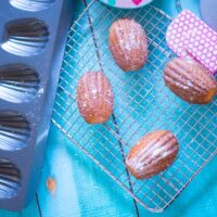 Lemon madeleines, low sugar