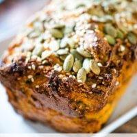 savoury sweet potato miracle breakfast bread