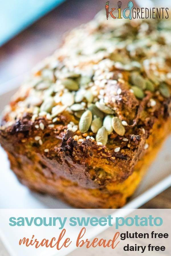 savoury sweet potato miracle breakfast bread