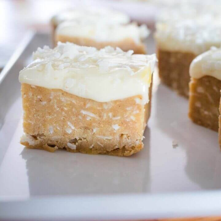 Lemon fridge slice, no bake yumminess