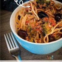 easy tuna puttanesca pasta