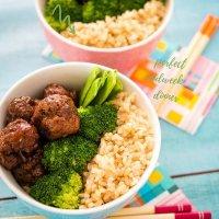 teriyaki beef meatball bowls