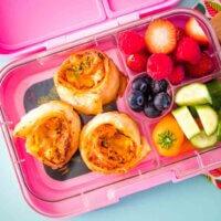 Three veg lunchbox scrolls