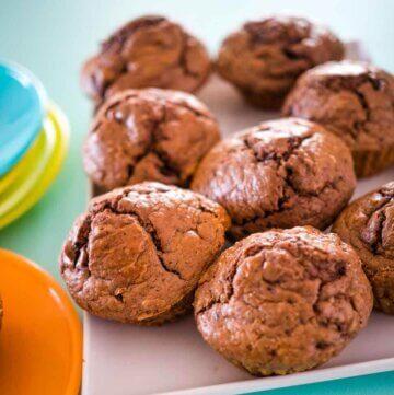 black forest cherry chocolate muffins