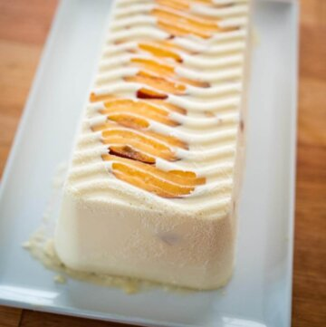 stonefruit and coconut semifreddo