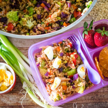 lunchbox fried rice salad