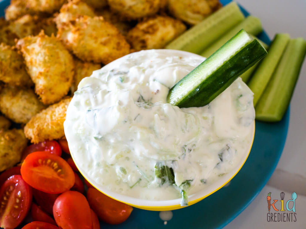 tzatziki with a cucumber in it