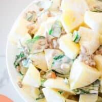 pasto potato salad in a large bowl